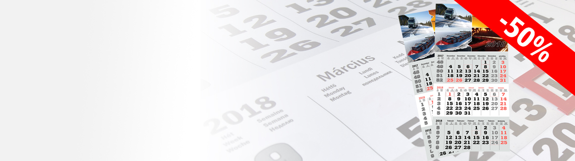 2019-es speditőr naptárak 50% kedvezménnyel!