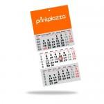 Speditőr naptár (300mm x 640mm) 12 lapos, egyedi fejkartonnal, 4+0, 1 oldalon nyomott