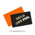 Aranyozott névjegykártya (90x50mm vagy 85x55mm) 2 oldalas, arany présfólia