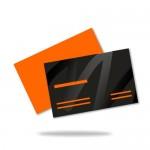 UV formalakkozott névjegykártya (90x50mm vagy 85x55mm) 1 oldalas