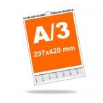 Falinaptár A3 álló (297mm x 420mm), 13 lapos, 4+0 szín, 1 oldalon nyomott