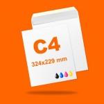 Boríték LC4 (324mm x 229mm) 4+0 szín, 1 oldalon nyomott, ablak nélkül, szilikonos