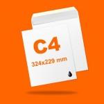 Boríték LC4 (324mm x 229mm) 1+0 szín, 1 oldalon nyomott, ablak nélkül, szilikonos