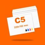 Boríték LC5 (229mm x 162mm) 4+0 szín, 1 oldalon nyomott, ablak nélkül, szilikonos