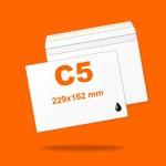 Boríték LC5 (229mm x 162mm) 1+0 szín, 1 oldalon nyomott, ablak nélkül, szilikonos