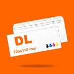 Boríték DL (220mm x 110mm) 4+0 szín, 1 oldalon nyomott, ablak nélkül, szilikonos