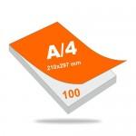 Jegyzettömb A4 (210 mm x 297 mm), 100 lapos, 4+0 szín, 1 oldalon nyomott