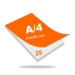 Jegyzettömb A4 (210 mm x 297 mm), 25 lapos, 4+0 szín, 1 oldalon nyomott