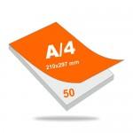 Jegyzettömb A4 (210 mm x 297 mm), 50 lapos, 4+0 szín, 1 oldalon nyomott